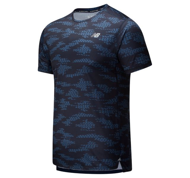 Men's Printed Impact Run Short Sleeve