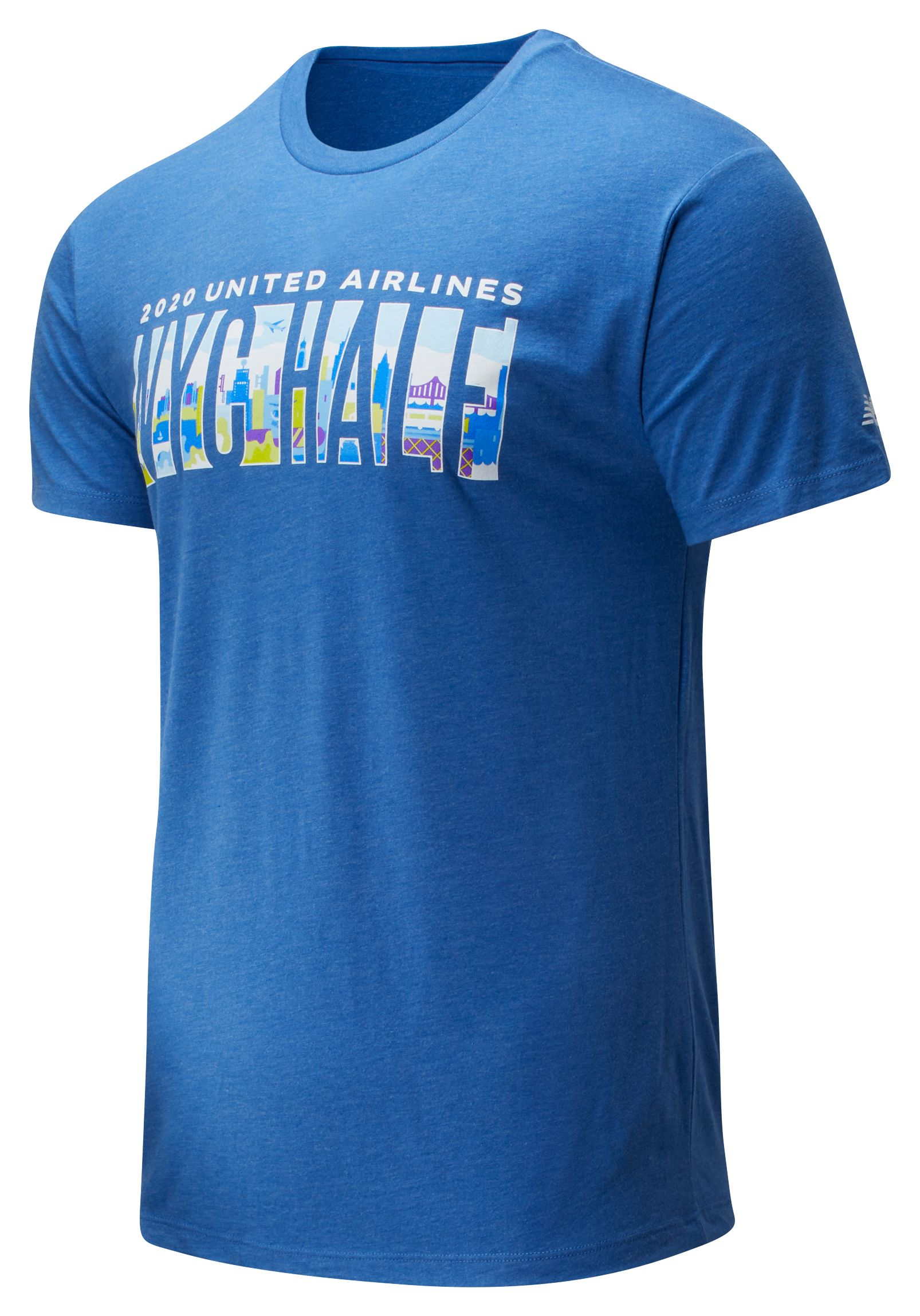 Men's 2020 United Airlines Half Skyline Tee
