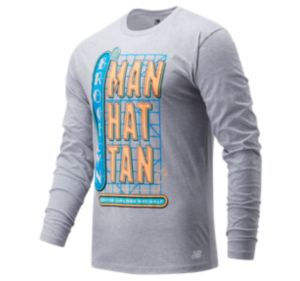 Men's United Airlines NYC Half Neon Sign Long Sleeve