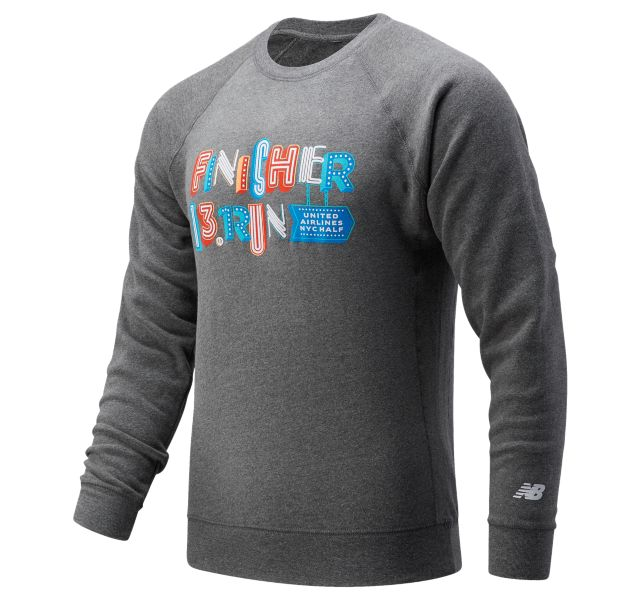 Men's United Airlines NYC Half Finisher Sign Crew Sweatshirt