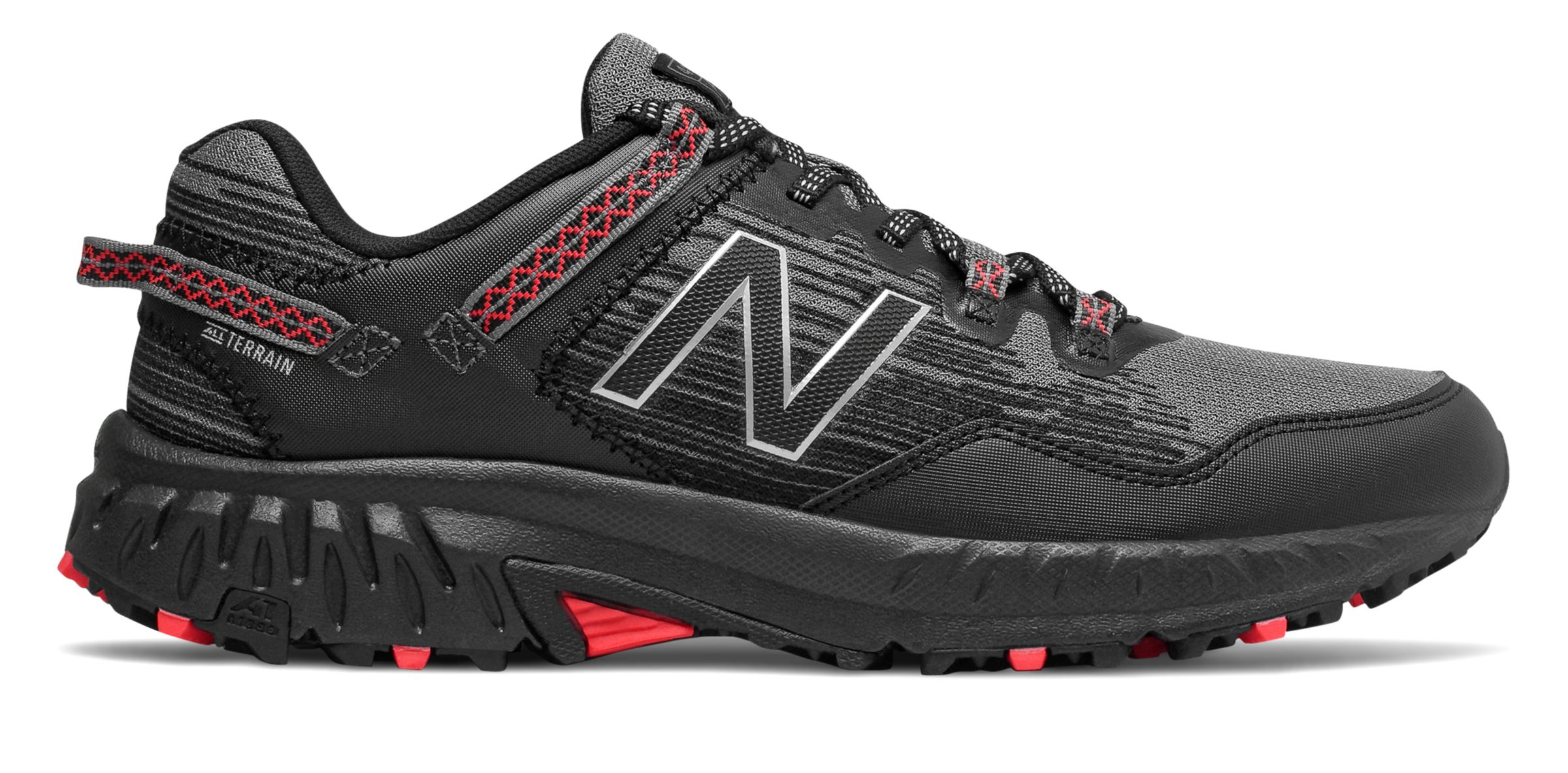 481134a9f81 New Balance Men s 410V6 Trail Shoes Black With Grey   Red