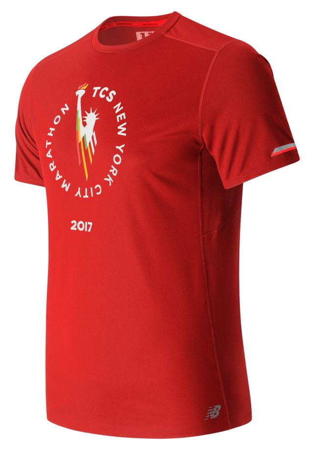 Men's NYC Marathon NB Ice Short Sleeve