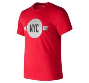 Men's NYC Marathon Heather Tech Short Sleeve