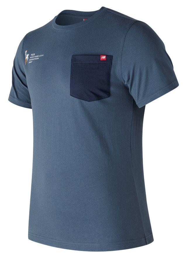 Men's NYC Marathon Essential Pocket Tee