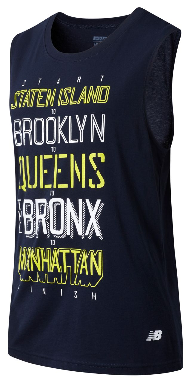 Men's NYC Marathon Boroughs Sleeveless