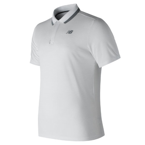New Balance 81415 Men's Rally Classic Polo - White (MT81415WT)