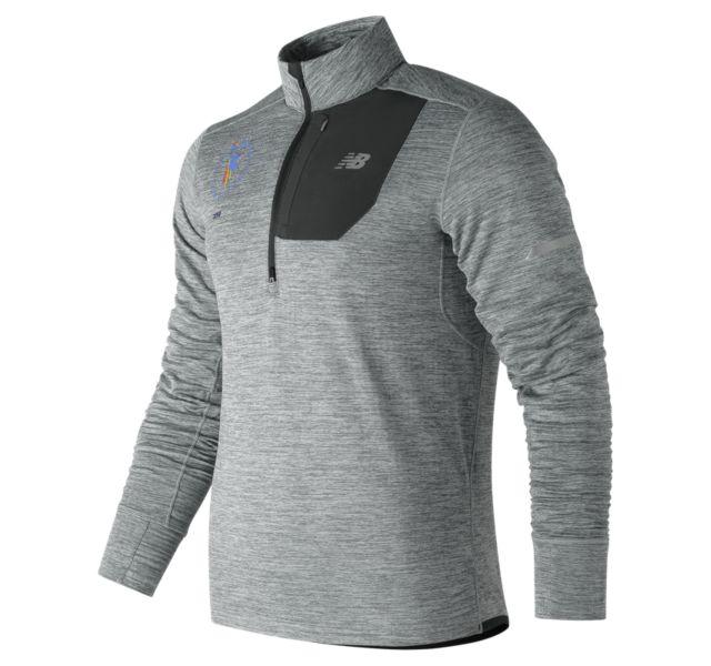 New Balance Men's NYC Marathon NB Heat Quarter Zip (Athletic Grey)