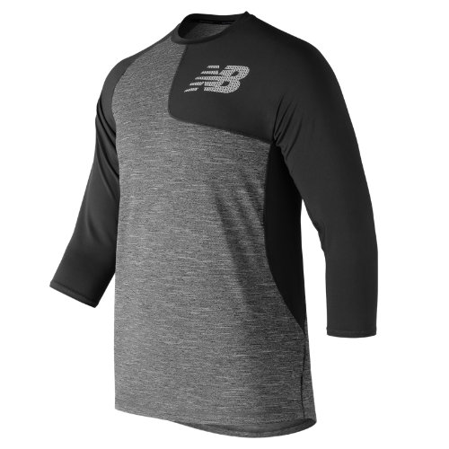 New Balance 83704 Men's Asym 2.0 3/4 Sleeve - Black (MT83704LBK)