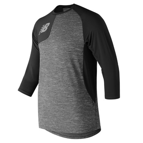 New Balance 83704 Men's Asym 2.0 3/4 Sleeve - Black (MT83704RBK)