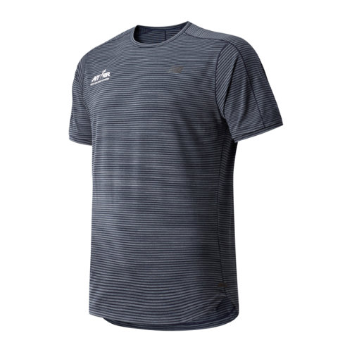 New Balance 91233 Men's Run 4 Life Q Speed Shadow Short Sleeve - Black (MT91233BECL)