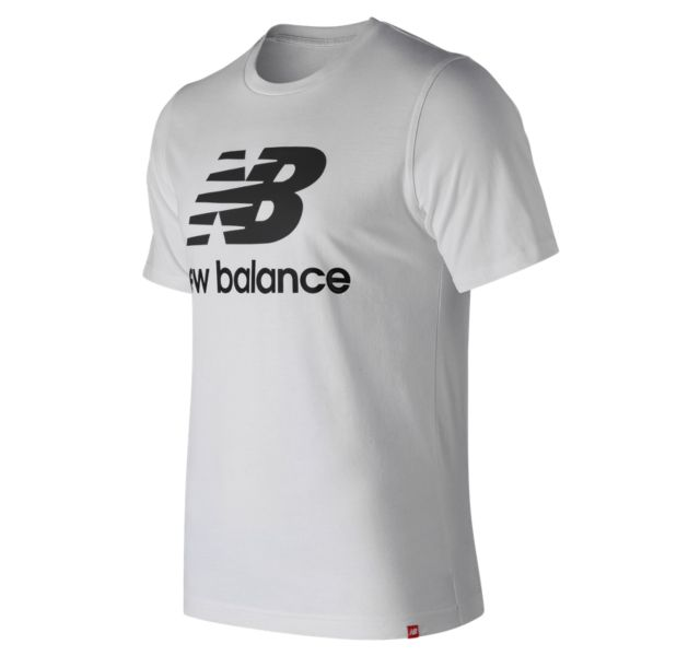 Men's Essentials Stacked Logo Short Sleeve Tee