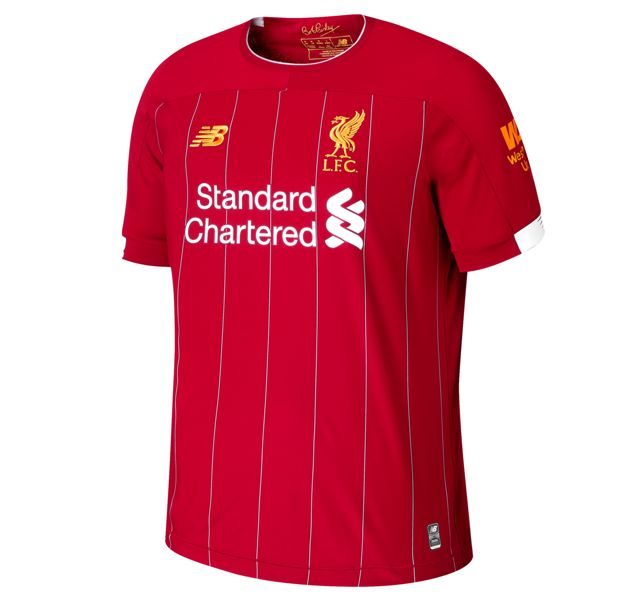 Men's Liverpool FC Home Short Sleeve Jersey No EPL Patch