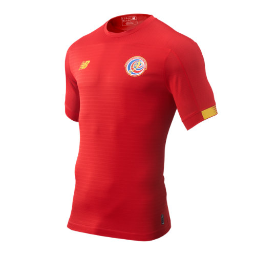 New Balance 930362 Men's Costa Rica Home SS Jersey - Red/Yellow (MT930362HME)