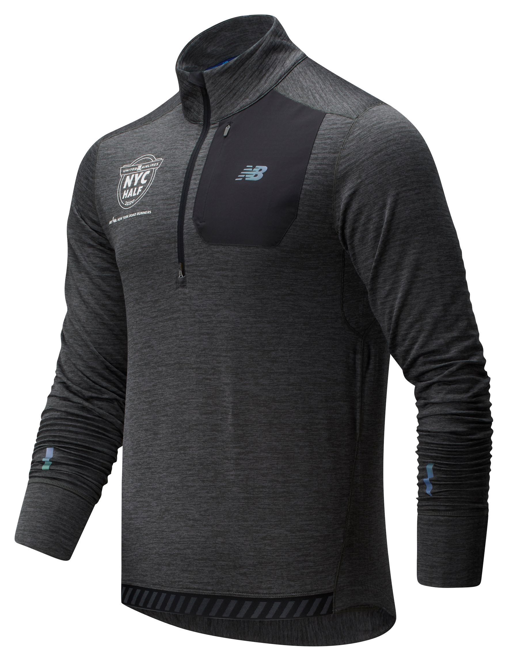 Men's 2020 United Airlines Half NB Heat Grid Half Zip