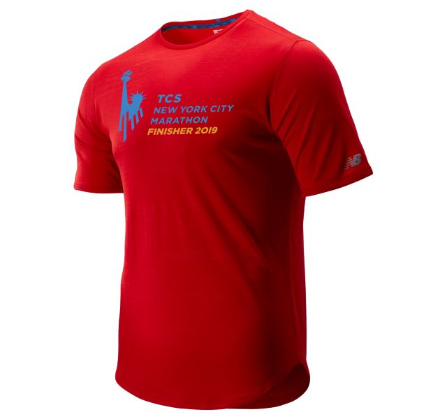 Men's 2019 NYC Marathon Q Speed Breathe Short Sleeve