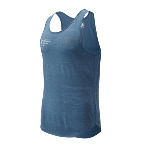 New Balance 93251 Men's NYC Marathon Q Speed Breathe Tank - Blue (MT93251MCMY)