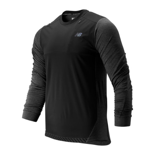 New Balance 93256 Men's Q Speed Run Crew Pullover - Grey (MT93256HC)