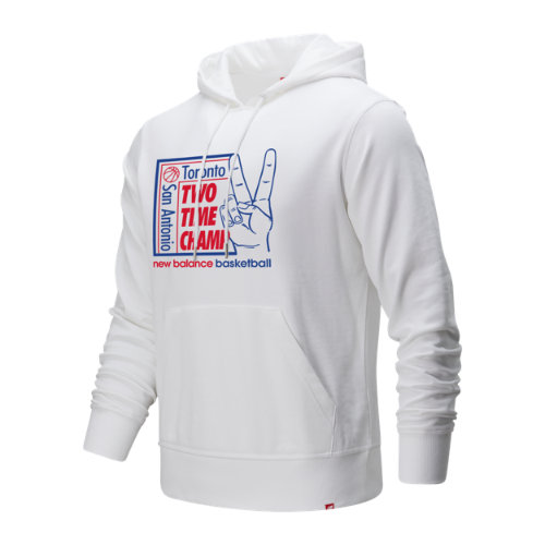 New Balance 93705 Men's 2 Time Champ Hoodie - White (MT93705WT)