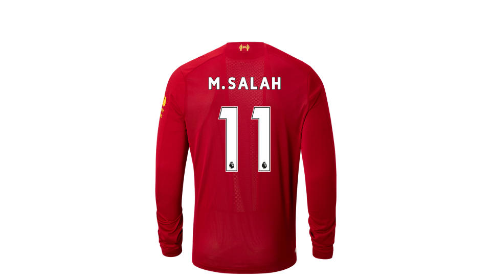 94b668b57d Camiseta Manga Larga New Balance Liverpool FC Home LS Jersey Salah No EPL  Patch Hombre | Comprar en Mexico