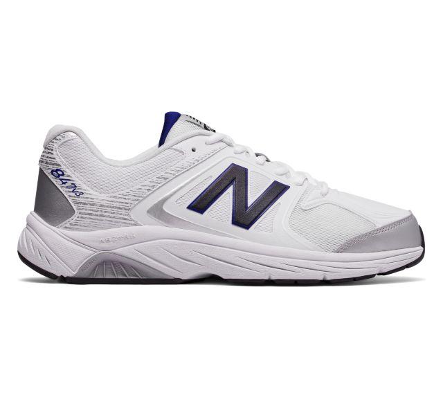 New Balance Men's 847 V3 Walking Shoes (White/Grey)
