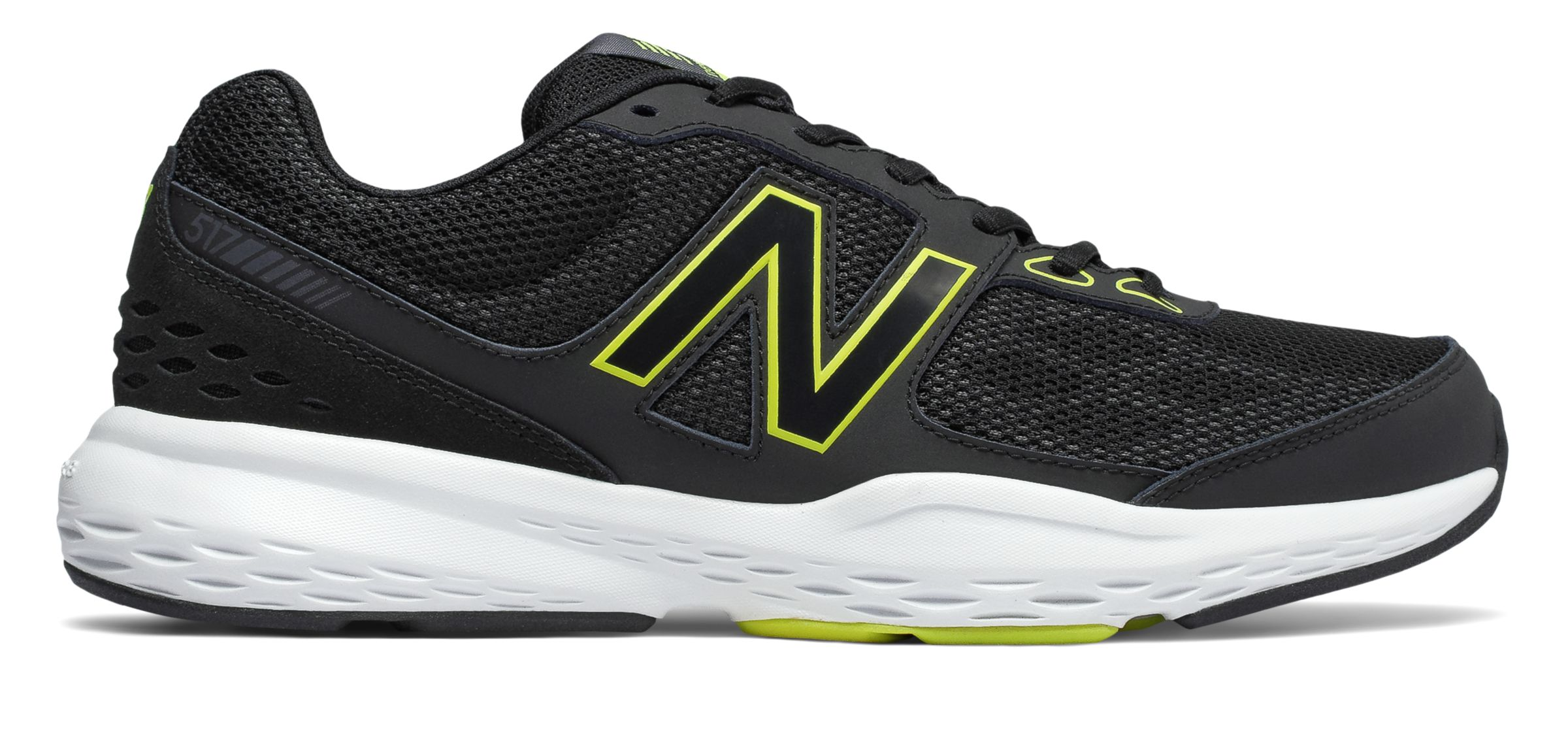 c25cb47bd02fb New Balance Men s 517v1 Shoes Black with Yellow