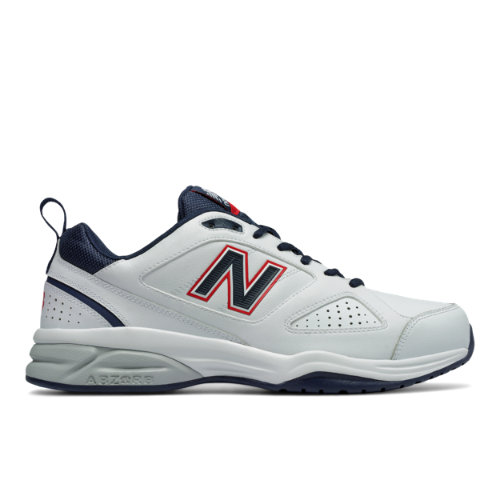 New Balance 623v3 Trainer Men's Everyday Trainers Shoes - White/Navy/Red (MX623US3)