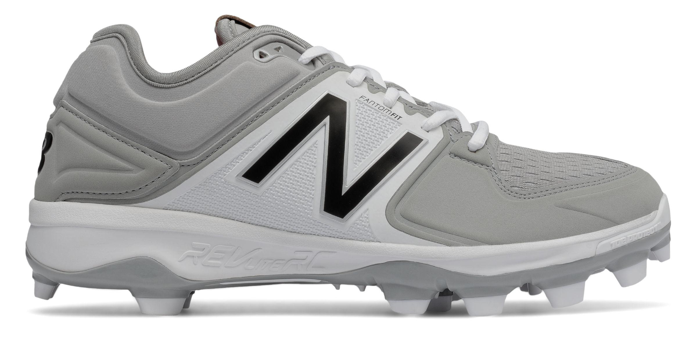 New Balance Low-Cut 3000v3 TPU Baseball Cleat Mens Shoes Grey with ... cc0bf2c0ecd