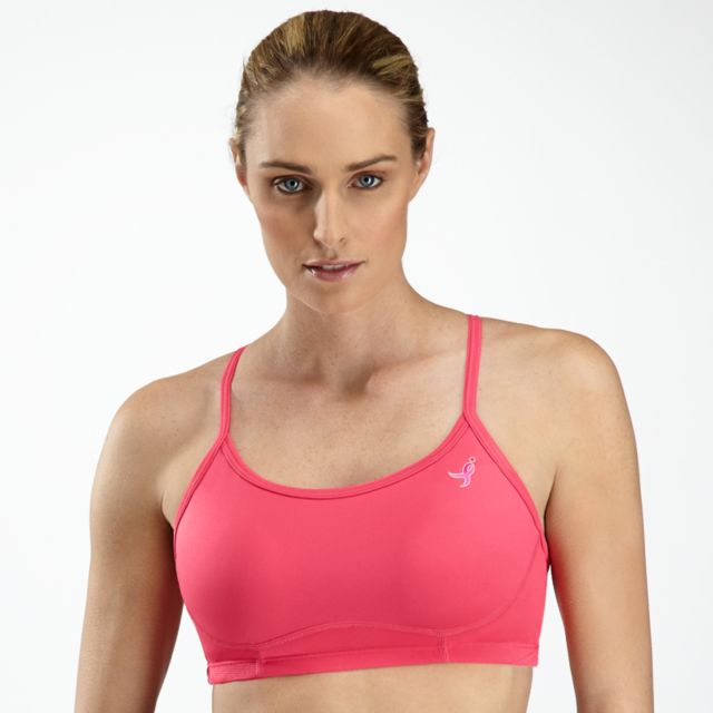 Womens Pink Ribbon Tenderly Obsessive Sports Bra