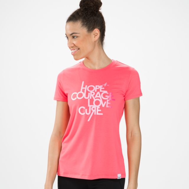 Womens Pink Ribbon Mantra Tee