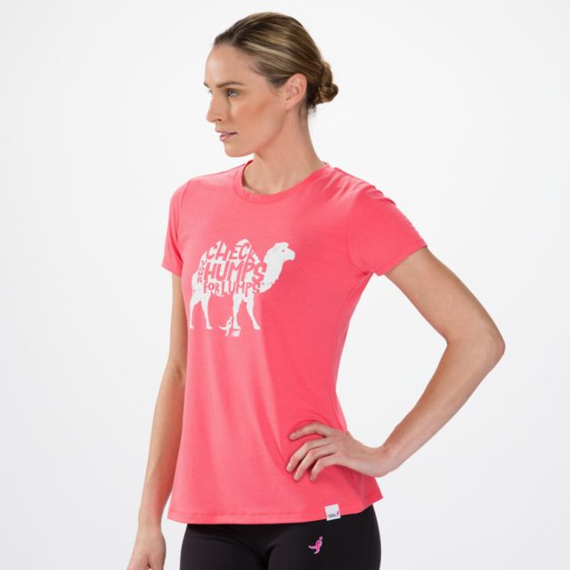 Womens Pink Ribbon Camel Tee