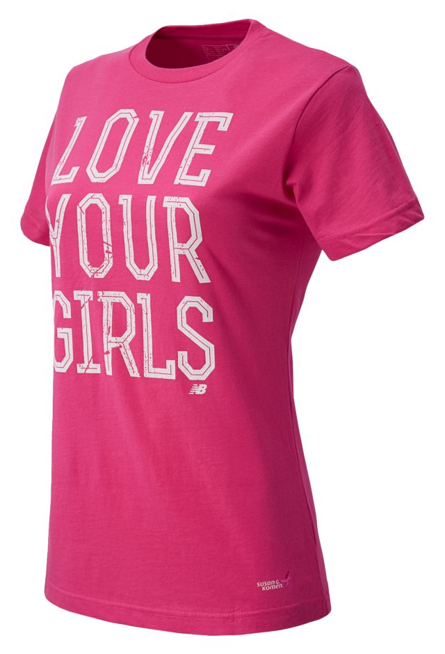 Pink Ribbon Love Girls Tee