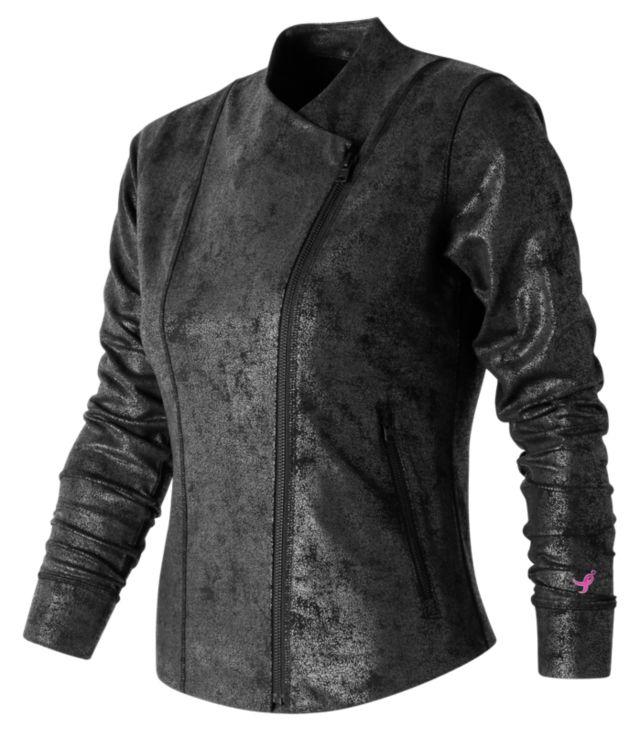 Women's Pink Ribbon Printed Bomber Jacket