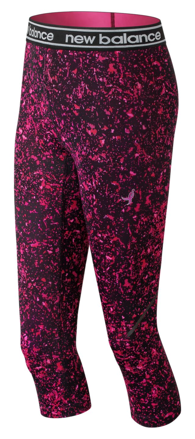 Women's Pink Ribbon Printed Accelerate Capri