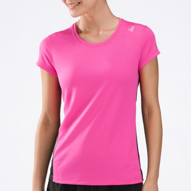 Womens Pink Ribbon Go 2 Short Sleeve Tee