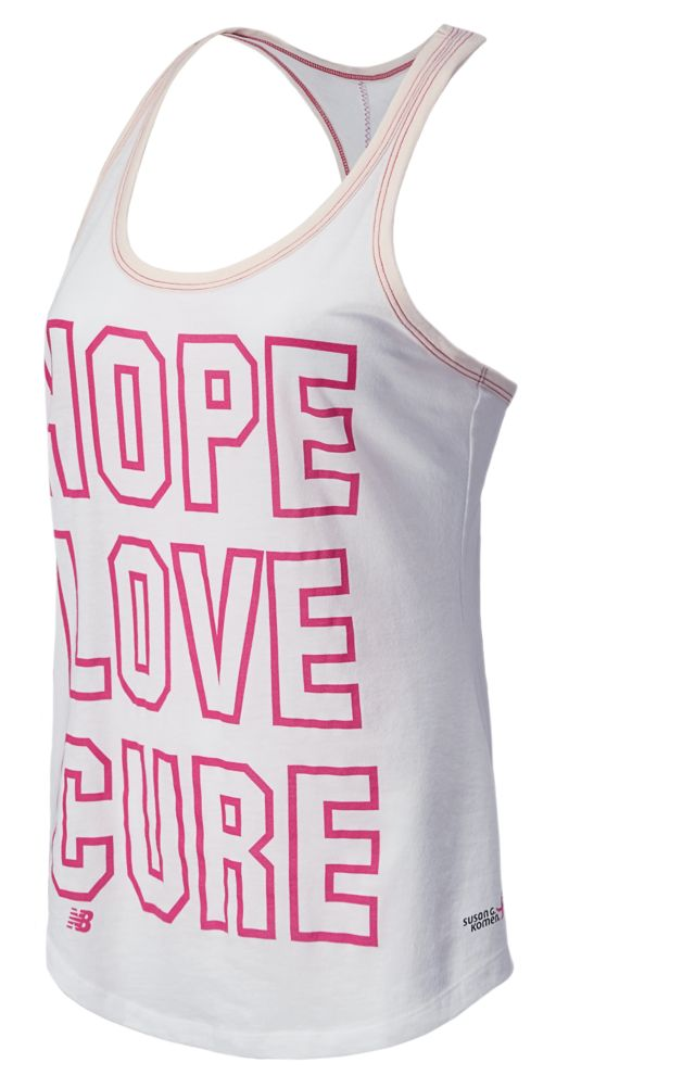 Pink Ribbon Hope Love Cure Tank