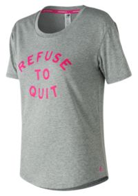 Women's Pink Ribbon Heather Tech Graphic Tee