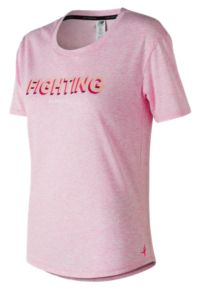 Womens' Pink Ribbon Heather Tech Graphic Tee