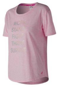 Women's Pink Ribbon Heather Tech Graphic Tee