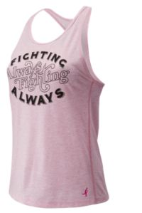 Women's Pink Ribbon Graphic Heather Tech Racerback