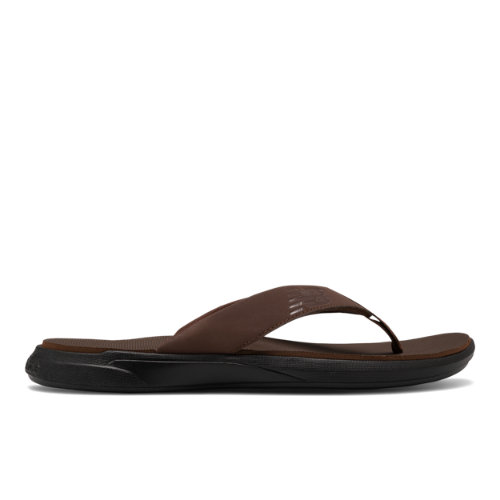 340 Men's Flip Flops Shoes - Brown/Black (SMT340B1)