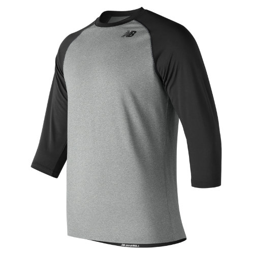 New Balance 601 Men's 3/4 Baseball Raglan Top - Black (TMMT601TBK)