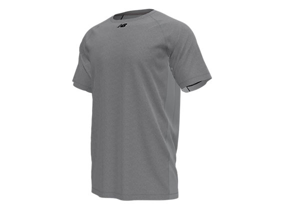 Raglan Tech Tee, Heather Grey