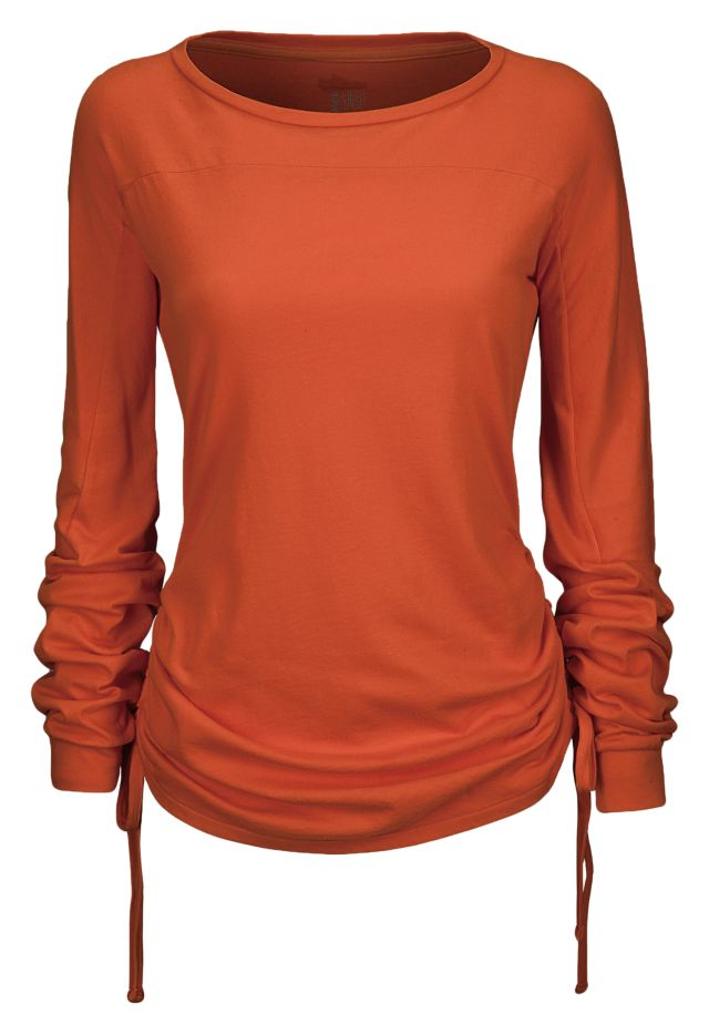 Long Sleeve Drawcord Top