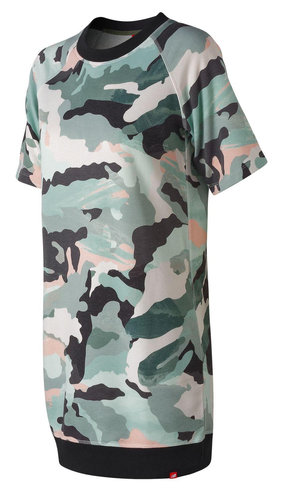 Women's Essentials Aqua Camo Sweat Dress