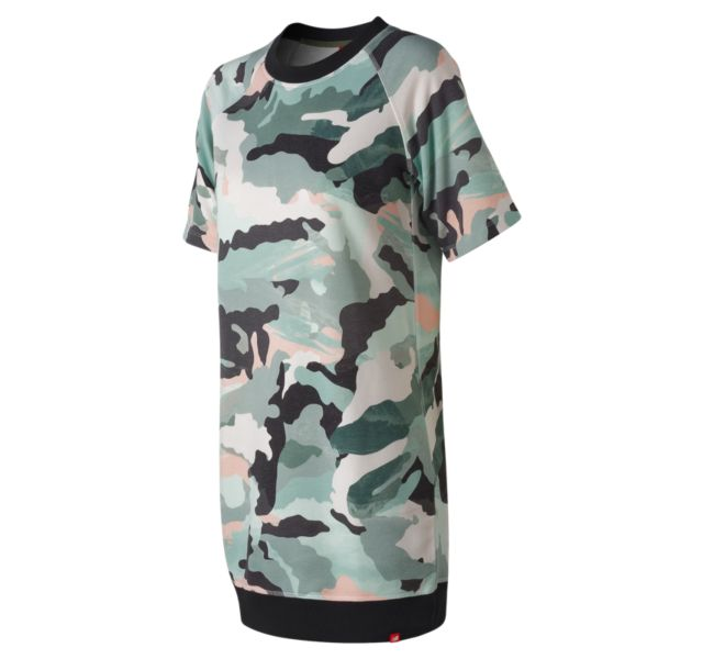 Women's Essentials Aqua Camo Sweat Dress