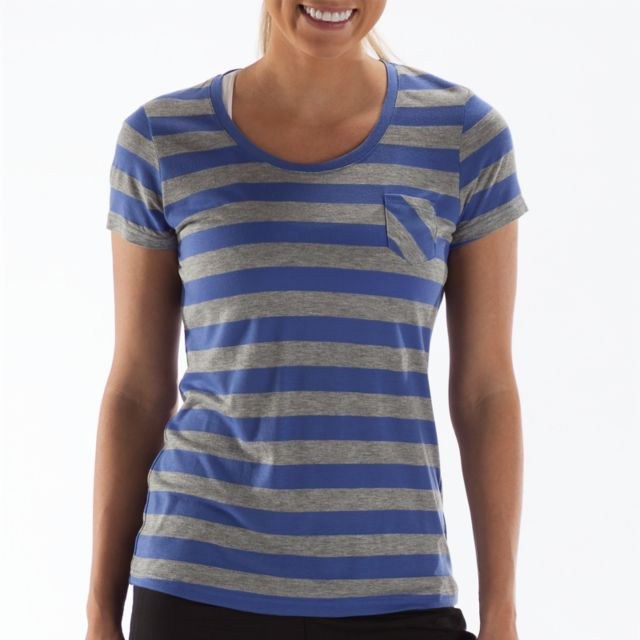 Womens Striped Short Sleeve Tee