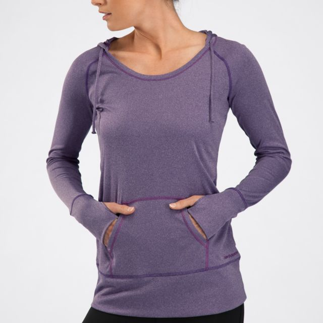 Womens Heather Hooded Coverup