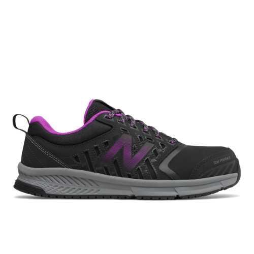 412 Alloy Toe Women's Work Shoes - Black/Purple (WID412P1)