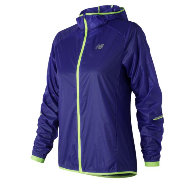 New Balance WJ81240BUE Women's Ultralight Packable Jacket (Blue)