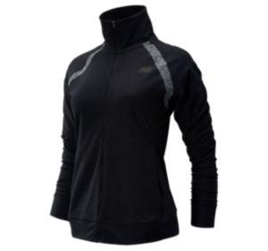 뉴발란스 우먼 코어 스페이스 다이 자켓 - 블랙 New Balance Womens Core Space Dye Jacket, WJ93861BK